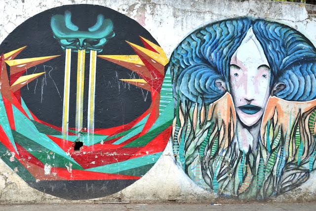 Brésil, tags, street art, peintures, artiste de rue