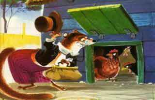 La comadreja y las gallinas; fabula