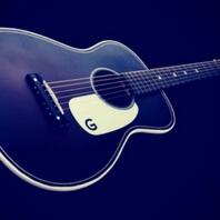 Guitarra acústica de muy hermosa y bonita