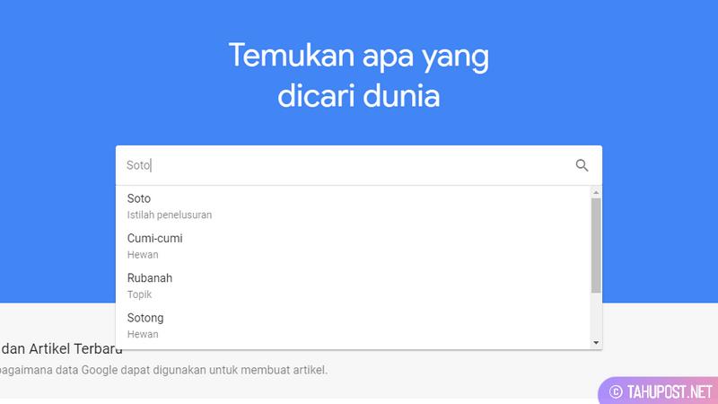 Tren Soto di Google Trends