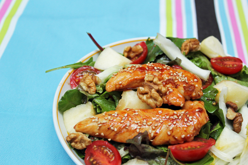 Honey Soy Sauce Chicken Salad Recipe from Chef Q in Paris, Didier Quémener