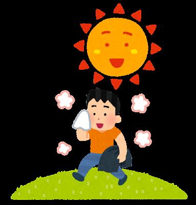 北風と太陽のイラスト(太陽)
