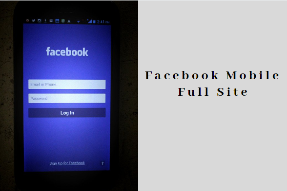 Facebook Mobile Full Site