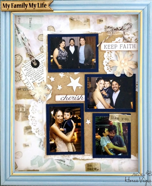quadro scrap scrapbook scrapbooking fotos família paper crafting craft diy pretty memories layout álbum decorado momentos