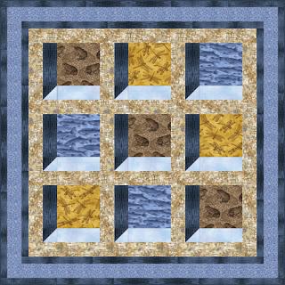 Quilt Inspiration: Free Pattern Day: Attic Windows Quilts : window pane quilt pattern free - Adamdwight.com