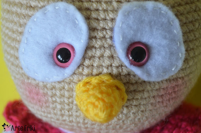 buho amigurumi owl crochet ganchillo kawaii diy doll handmade peluche plushie arte friki rosa pink