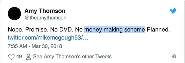 推特內容表示不會發行DVD,回歸不是為了賺錢
