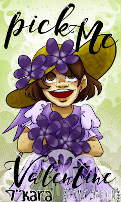 digital art, cute art, violets