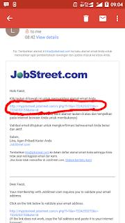 Cara membuat akun jobstreet