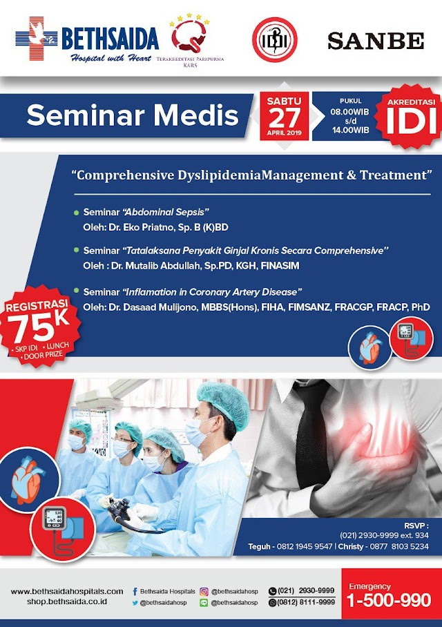 "Seminar ""Comprehensive Dyslipidemia Management and Treatment"" 27 April 2019"