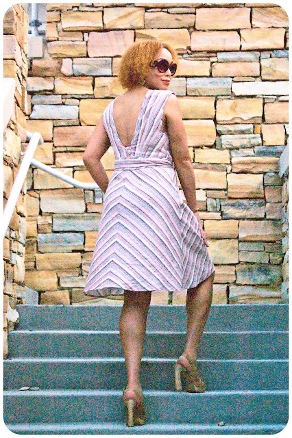 Vogue Patterns 1158 - How to Miter Stripes! Erica Bunker DIY Style!