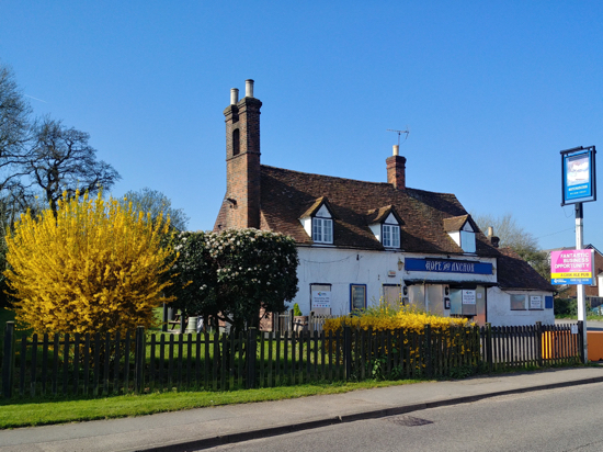 Image: The Hope and Anchor, Station Road, Welham Green - 1 April, 2019 Image by North Mymms News, released under Creative Commons BY-NC-SA 4.0