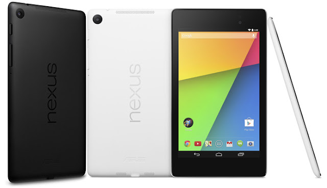 Asus Google Nexus 7 (2013) Specifications - LAUNCH Announced 2013, July Avalable as Asus Google Nexus 7 2 Cellular with 3G/4G support Asus Google Nexus 7 2 with no cellular network support DISPLAY Type LED-backlit IPS LCD capacitive touchscreen, 16M colors Size 7.0 inches (~62.3% screen-to-body ratio) Resolution 1200 x 1920 pixels (~323 ppi pixel density) Multitouch Yes, up to 10 fingers Protection Corning Gorilla Glass BODY Dimensions 200 x 114 x 8.7 mm (7.87 x 4.49 x 0.34 in) Weight 290 g (Wi-Fi), 299 g (LTE) (10.55 oz) SIM Micro-SIM PLATFORM OS Android OS, v4.3 (Jelly Bean), upgradable to v6.0 (Marshmallow) CPU Quad-core 1.5 GHz Krait Chipset Qualcomm Snapdragon S4Pro GPU Adreno 320 MEMORY Card slot No Internal 16/32 GB, 2 GB RAM CAMERA Primary 5 MP, f/2.4, autofocus Secondary 1.2 MP Features Geo-tagging, touch focus, face detection Video 1080p@30fps NETWORK Technology GSM / HSPA / LTE 2G bands GSM 850 / 900 / 1800 / 1900 - all versions 3G bands HSDPA 850 / 900 / 1700 / 1900 / 2100 4G bands LTE band 1(2100), 2(1900), 3(1800), 4(1700/2100), 5(850), 7(2600), 20(800) - EU    LTE band 1(2100), 2(1900), 3(1800), 4(1700/2100), 5(850), 13(700), 17(700) - North America Speed HSPA, LTE GPRS Yes EDGE Yes COMMS WLAN Wi-Fi 802.11 a/b/g/n, dual-band NFC Yes GPS Yes, with A-GPS USB microUSB v2.0 (SlimPort) Radio No Bluetooth v4.0, A2DP, LE FEATURES Sensors Accelerometer, gyro, proximity, compass Messaging Email, Push Email, IM Browser HTML5 Java No SOUND Alert types Vibration; MP3, WAV ringtones Loudspeaker Yes, with stereo speakers 3.5mm jack Yes BATTERY  Non-removable Li-Ion 3950 mAh battery Stand-by  Talk time Up to 9 h (multimedia) Music play  MISC Colors Black  - Qi wireless charging - MP4/H.264 player - MP3/WAV/eAAC+/WMA player - Photo/video editor - Document viewer - Voice memo