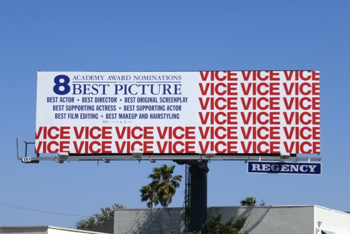Vice Academy Award US Flag billboard