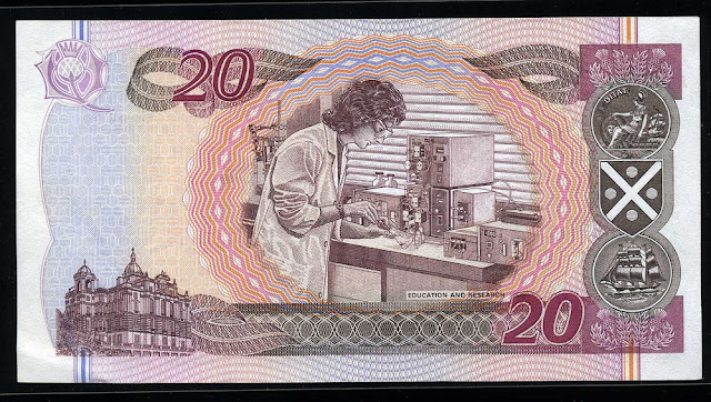 Bank of Scotland 20 Pounds Sterling banknote