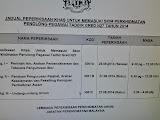 Pindaan Jadual Peperiksaan KPSl N27 Tahun 2014