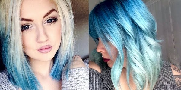 Fantastic Awesome Blue Ombres Hairstyles For Women Draintrainus