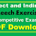 Direct and indirect speech exercises for SSC Exams PDF