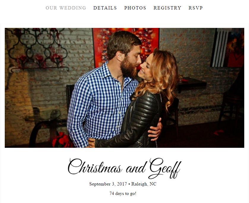 Christmas Abbott And Geoff Wedding