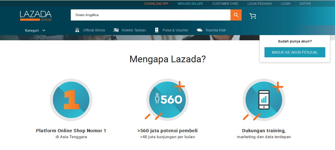 Cara mendaftar menjadi Seller di Lazada - Cara Ngecek