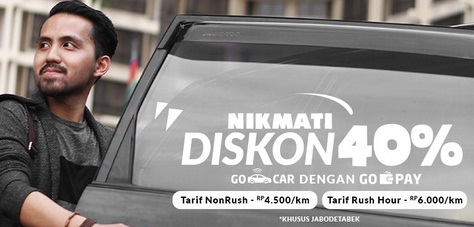 promo gocar oktober 2016, promo gojek oktober 216, promo go-car oktober 2016, promo gojek terbaru, promo gojek 2016