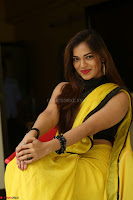 Cute Actress Ashwini in Yellow Saree Exclusive  001.JPG