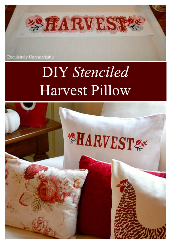 Stenciled Fall Pillow