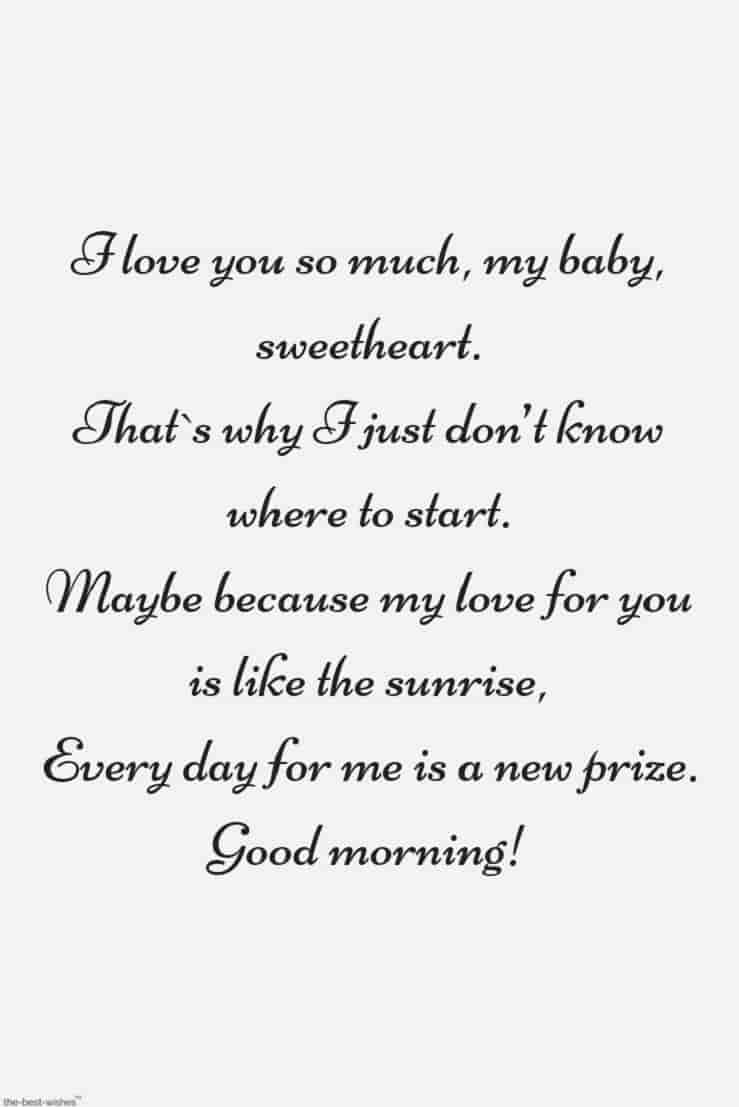 sweet romantic good morning poems for her