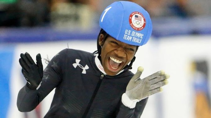 Maame Biney becomes first African-American to make U.S. Olympic women speedskating team