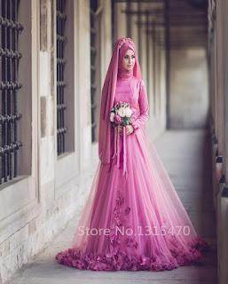 gaun pengantin muslimah terindah di dunia
