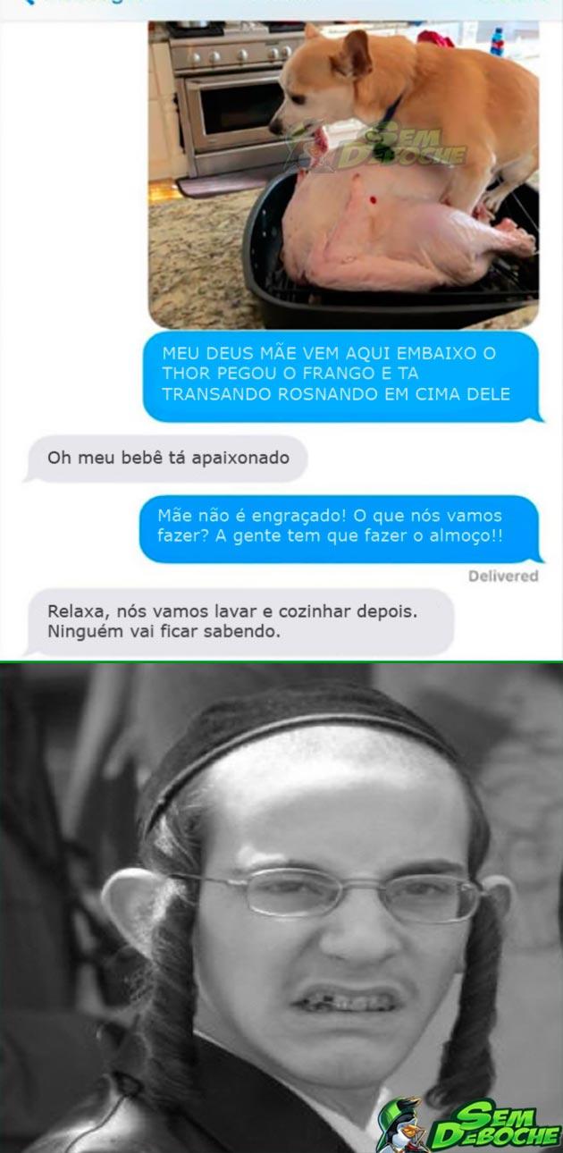 TRAÇOU A GALINHA DO ALMOÇO