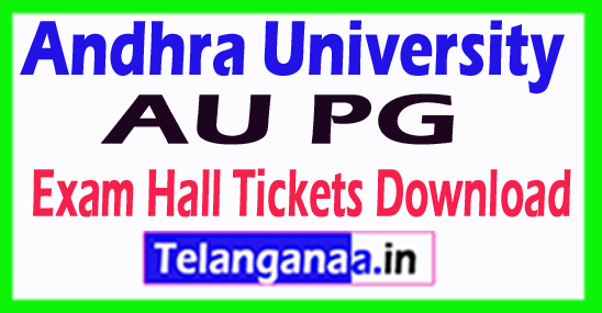 Andhra University AU PG Exam Hall Tickets Download