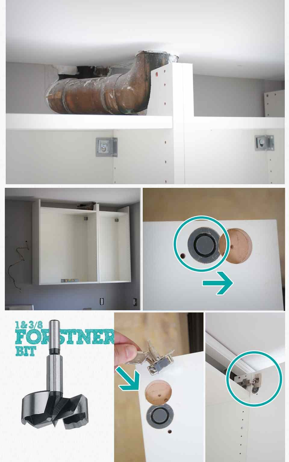 How to Hide a Soffit In Akurum Upper Cabinet - IKEA Hackers