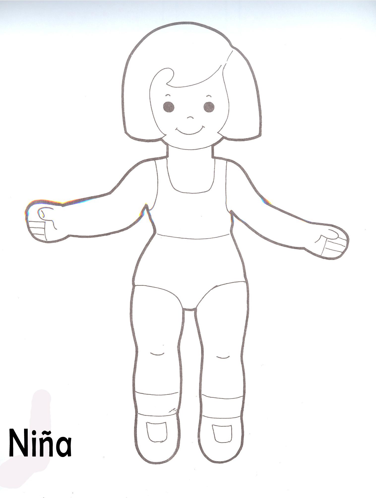 La Silueta Cuerpo Nino Del Y De Nina De Dibujos