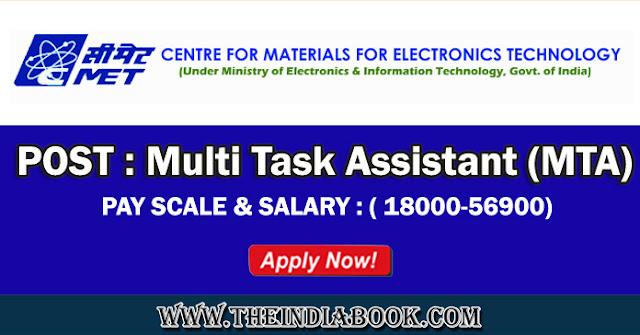 CMET Recruitment For Multi Task Assistant Posts 2018