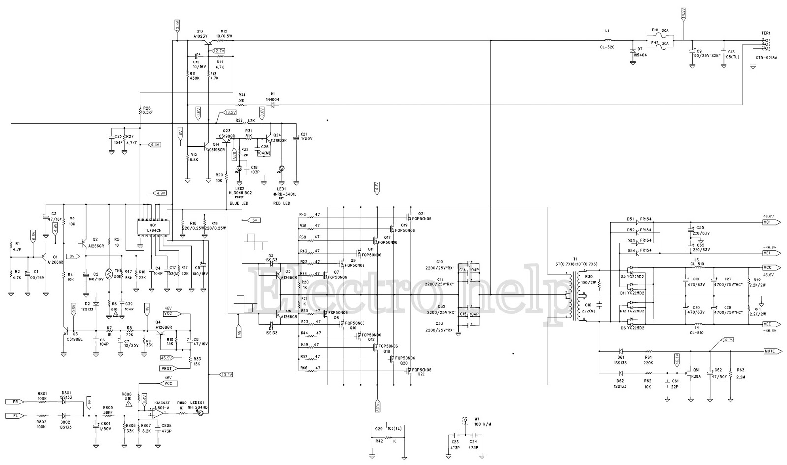 JBL PX 6002 – 2 channel car amplifier – MOSFET output