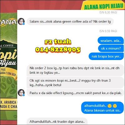 testimoni alana kopi hijau