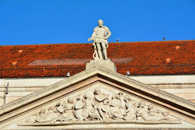 Rossio Square Lisbon Roof