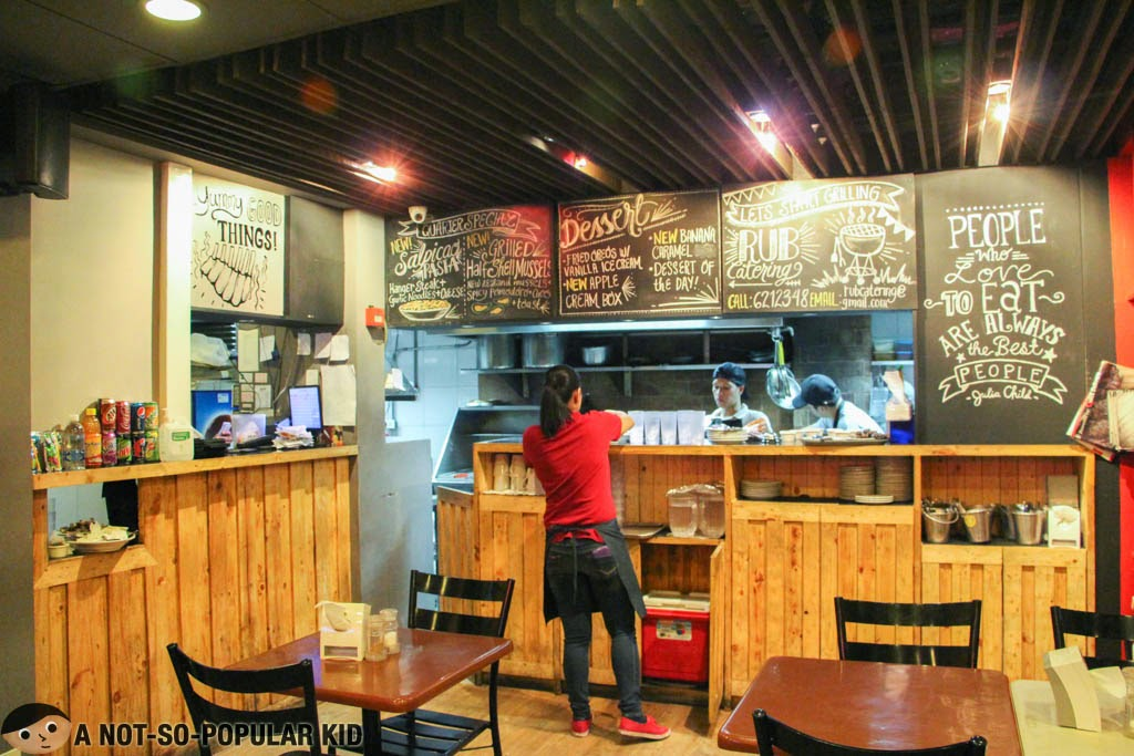 Interior of Rub's Makati Branch in Poblacion