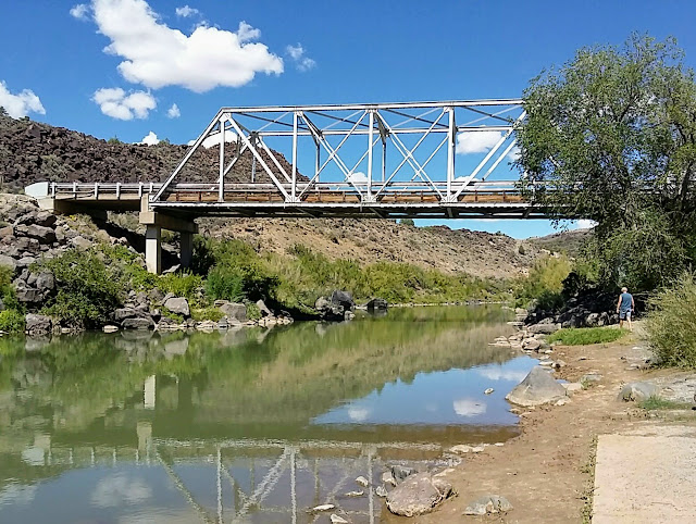 Wolfgang Rebesky at Taos Junction Bridge, Orilla Verde