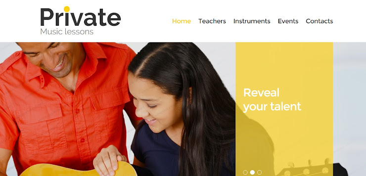 Plantilla Web para Sitio de Escuela de Música