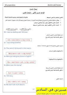 ملزمة القواعد اللغة الانكليزية للصف السادس الأعدادي للأستاذ أبراهيم عبد 2016 / 2017