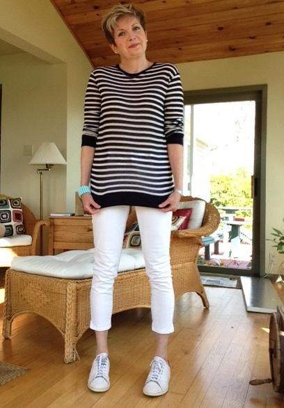 Alexander Wang tee, NYDJ jeans, Stan Smith Adidas