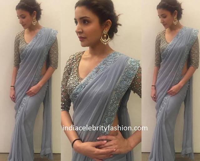 Anushka Sharma in Monisha Jaising sari