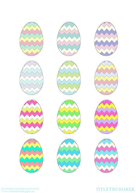 Nyomtatható húsvéti tojások