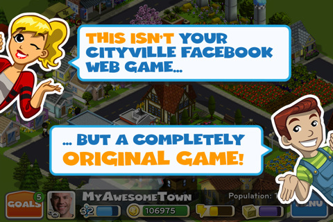 Zynga's CityVille App for iPhone