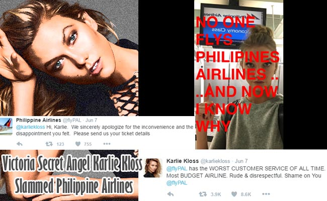 Victoria Secret Angel Karlie Kloss Slammed Philippine Airlines