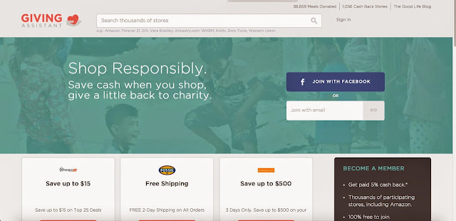 giving assistant reviews, givingassistant, coupons, charities, coupon codes, brand names,