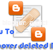 Blogger Addict: How to Recover Deleted BLOG