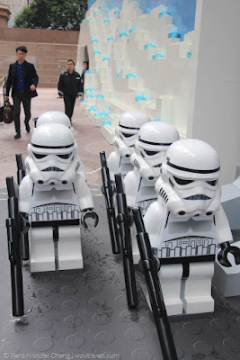 Storm Trooper Legos in TImes Square, Hong Kong